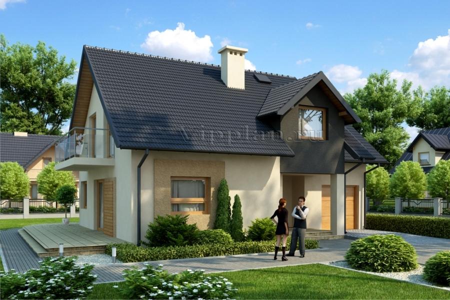 Удобный одноэтажный дом с мансардой и гаражом. Заказать проект